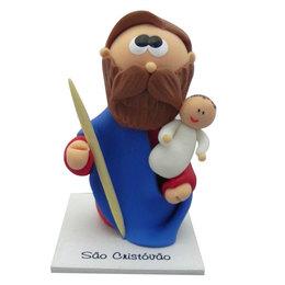 Imagem de São Cristóvão em Biscuit