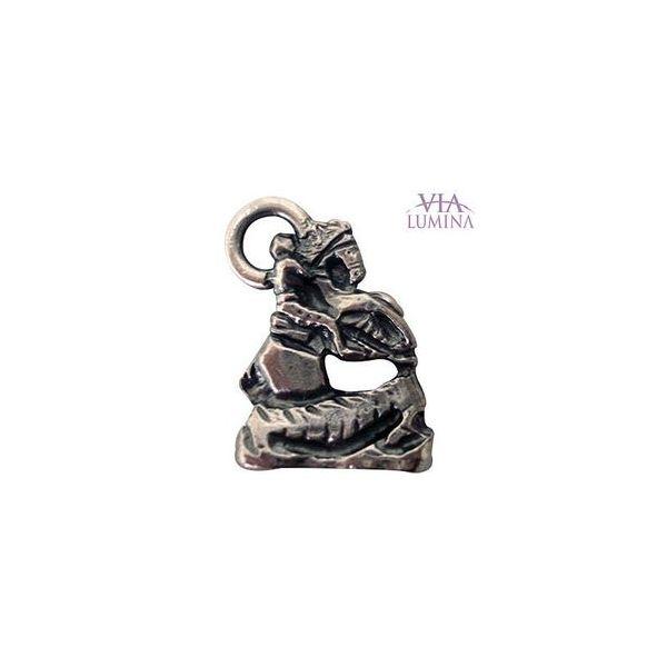 São Jorge - Metal - 2,5cm - Com Oração de Bolso