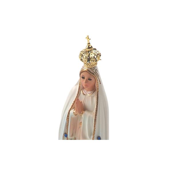 Imagem de N. Sra. de Fátima Clássica com Olhos de Vidro de 21cm - Importada de Portugal