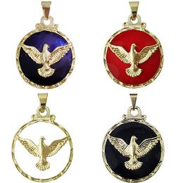 Medalha do Divino Espírito Santo Dourada - 2,5cm