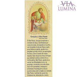 Marca Página da Oração a São Paulo