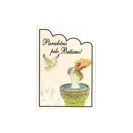 Cartão Parabéns pelo Batismo