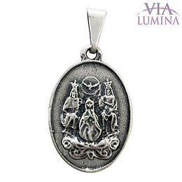 Medalha Divino Pai Eterno - Prata Velha - 1,8cm