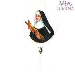 Adesivo Santa Rita de Cássia - Terço Branco