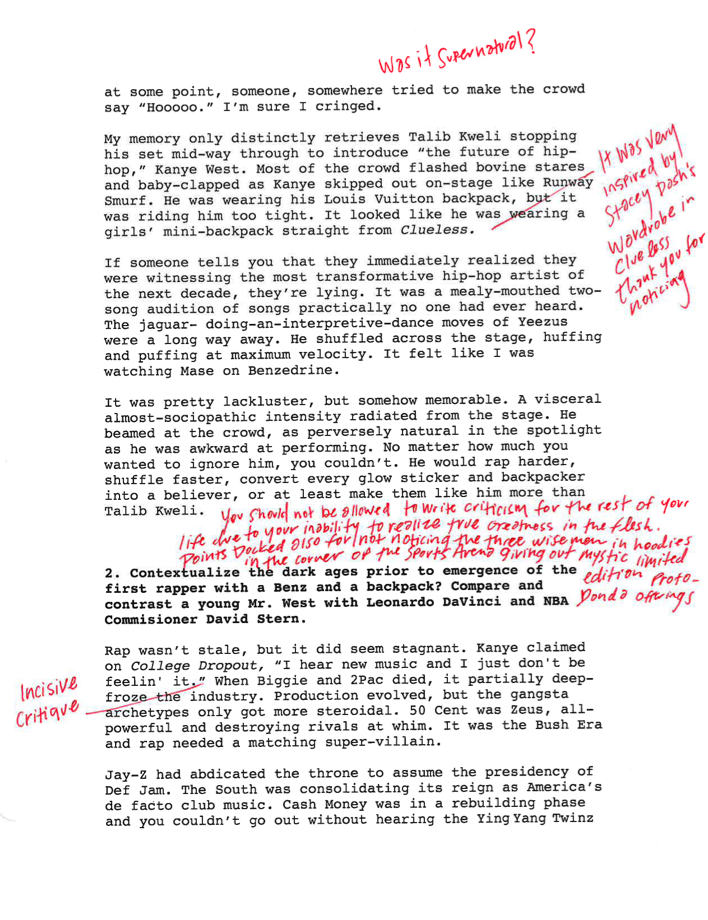 The Yellow Wallpaper Analysis Essay  College Essay Test On The Recordgraded By Kanye Himself Or At Least  What We Imagine Kanye Would Say About A College Essay About The College  Dropout High School Essays Samples also Essay Paper Checker Kanye West Graded My Essay On The College Dropout  Noisey Essay English Spm