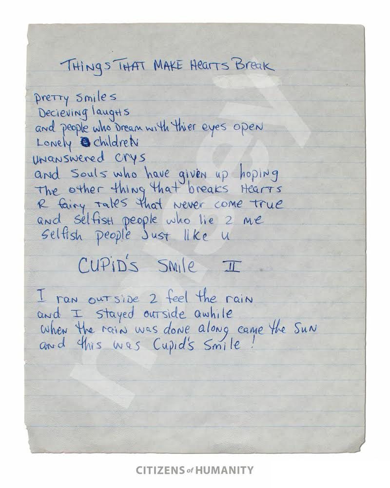 these previously unreleased handwritten poems by a year the poems were unearthed by his first manager leila steinberg