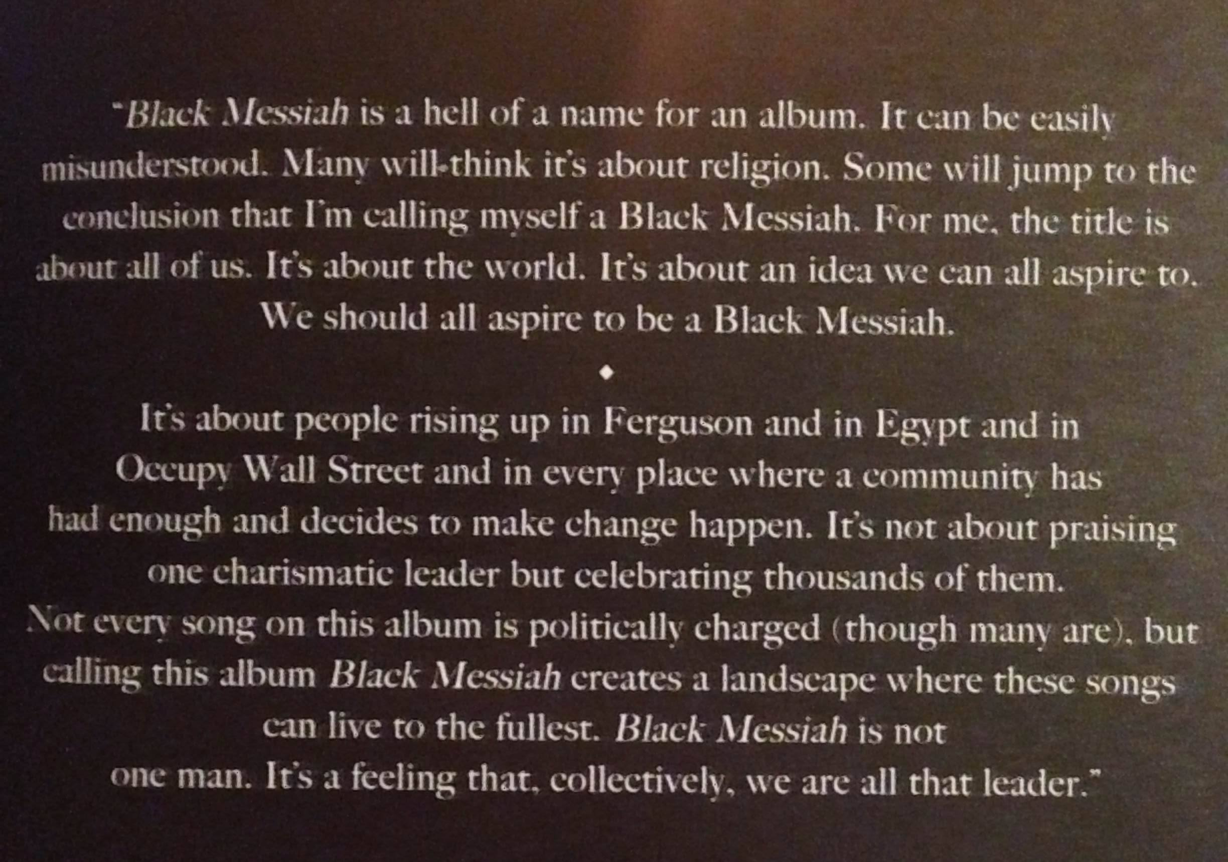 Dangelo And The Vanguard Black Messiah Out Now Physical And