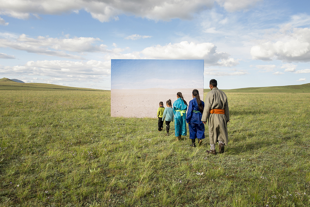 Giant Billboards Paint a Discordant Portrait of Mongolian Desertification