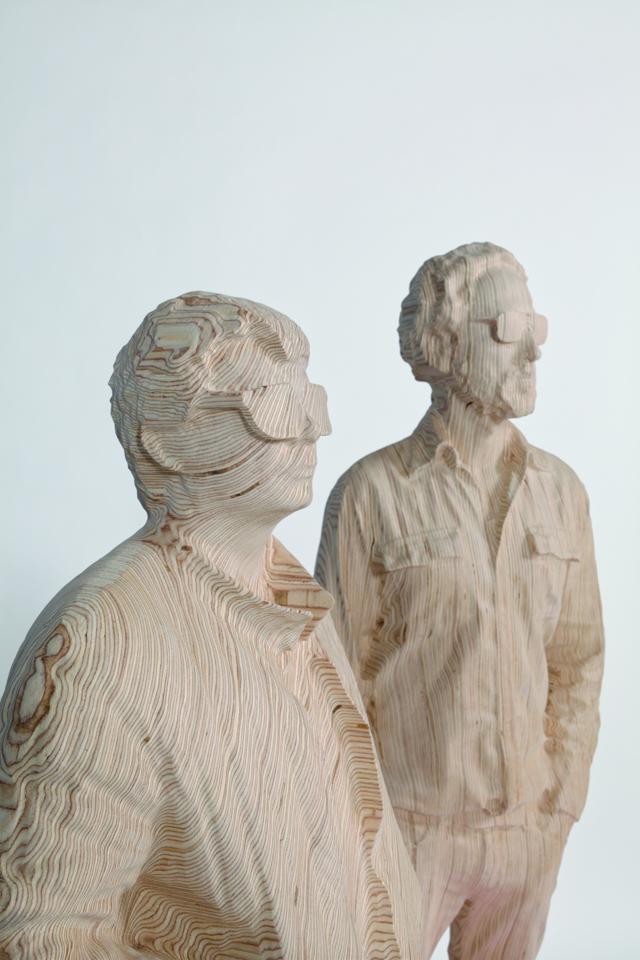 Artist Unmasks Daft Punk for New Sculpture Series