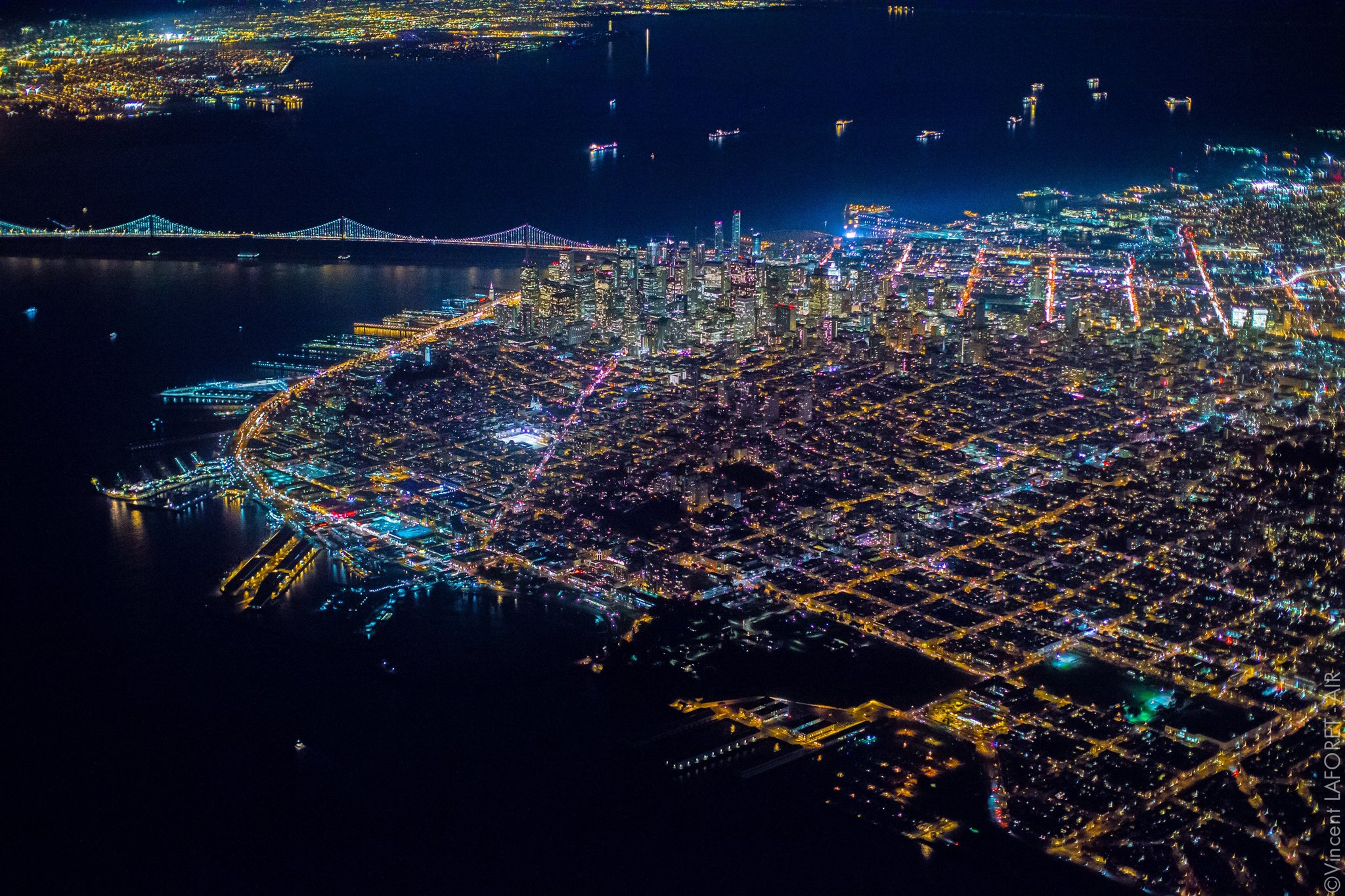 Aerial Photos Capture San Francisco S Nightlife From 7 200