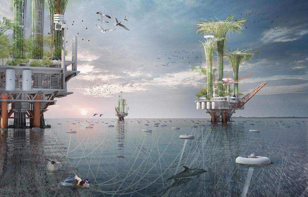 Biohábitat vertical convierte plataforma de petróleo en oa