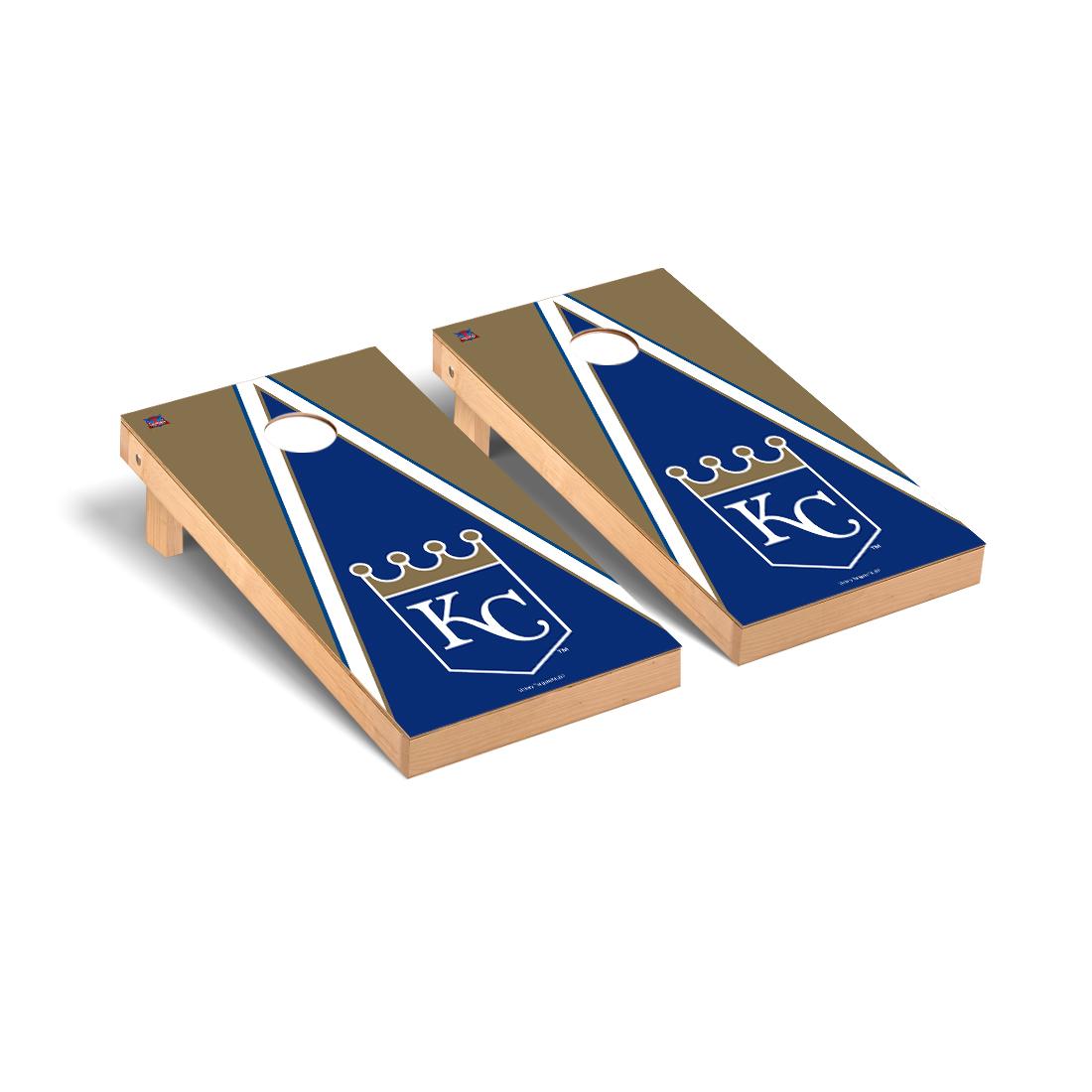 Kansas City Royals MLB Baseball Cornhole Game Set Triangle Version