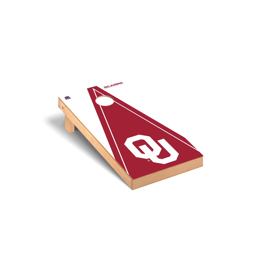 Oklahoma Sooner Cornhole Game Set Triangle Version