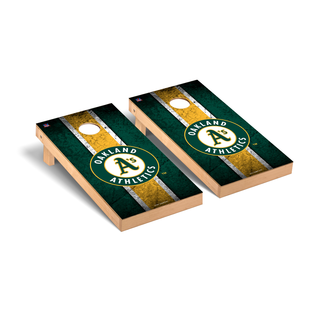 Oakland Athletics MLB Baseball Cornhole Game Set Vintage Version