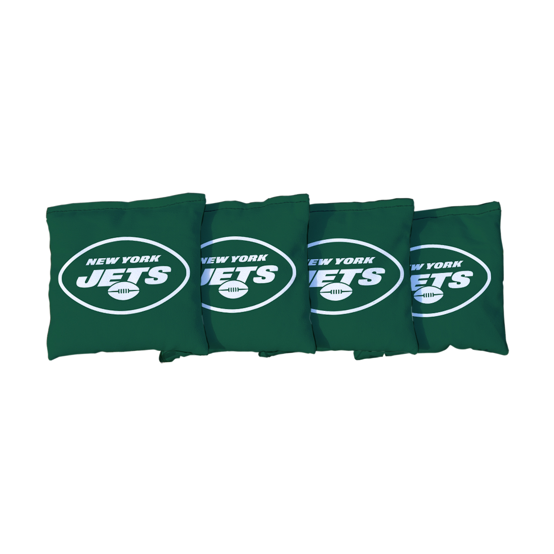 4 New York Jets NFL Green Cornhole Bags