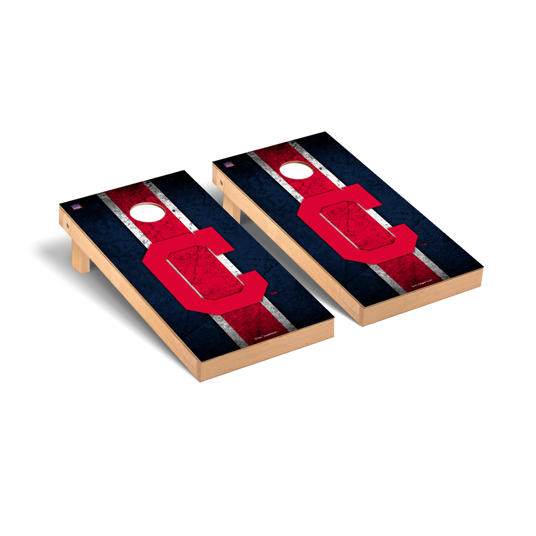 Cleveland Indians MLB Baseball Cornhole Game Set Vintage Version