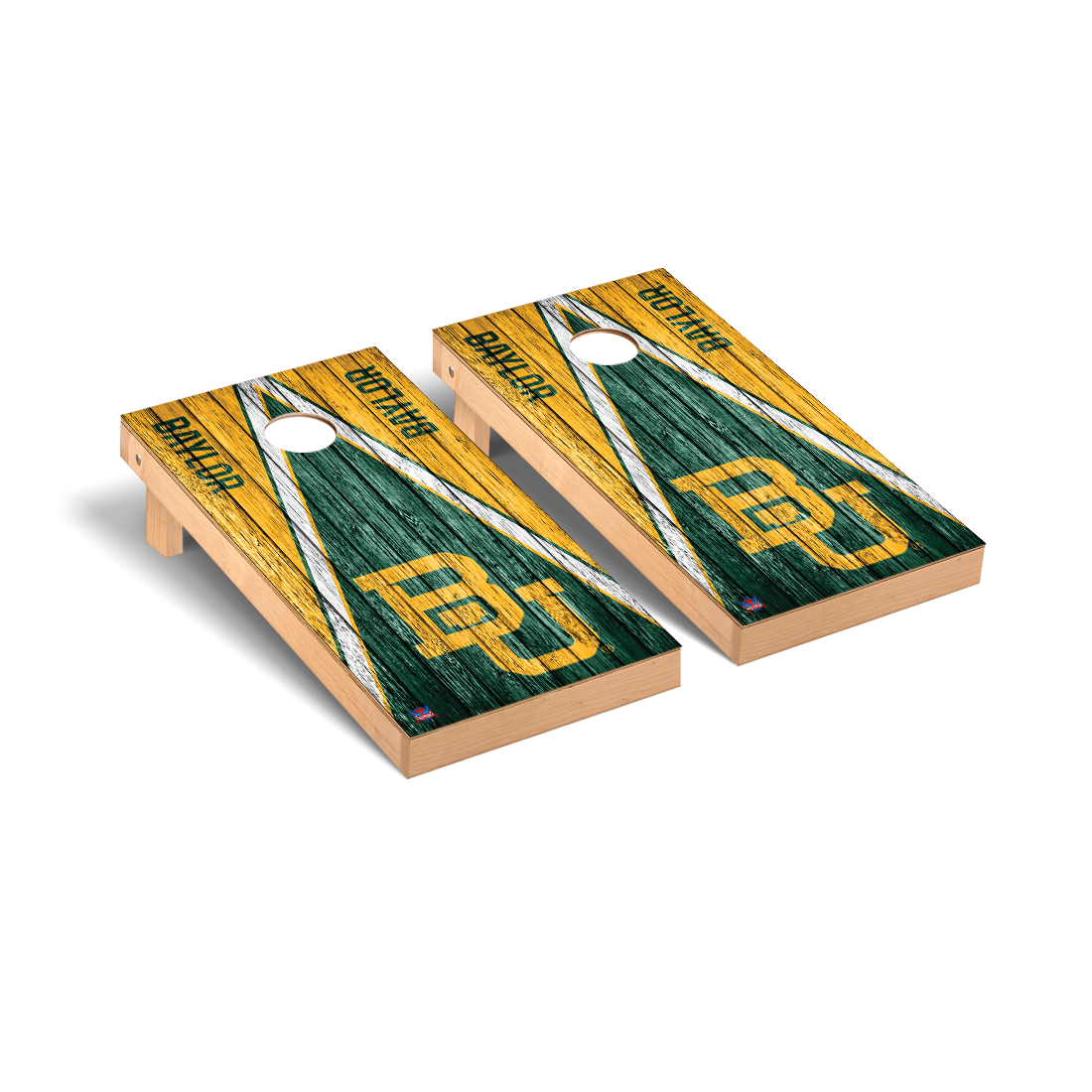 Baylor Bears Cornhole Game Set Triangle Weathered Version