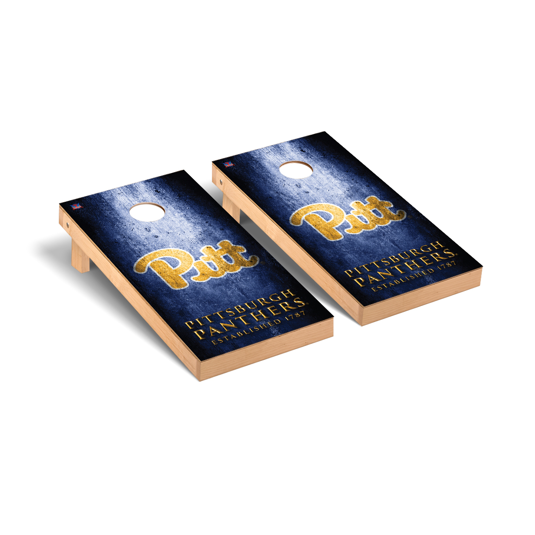 University of Pittsburgh Panthers Cornhole Game Set Museum Version
