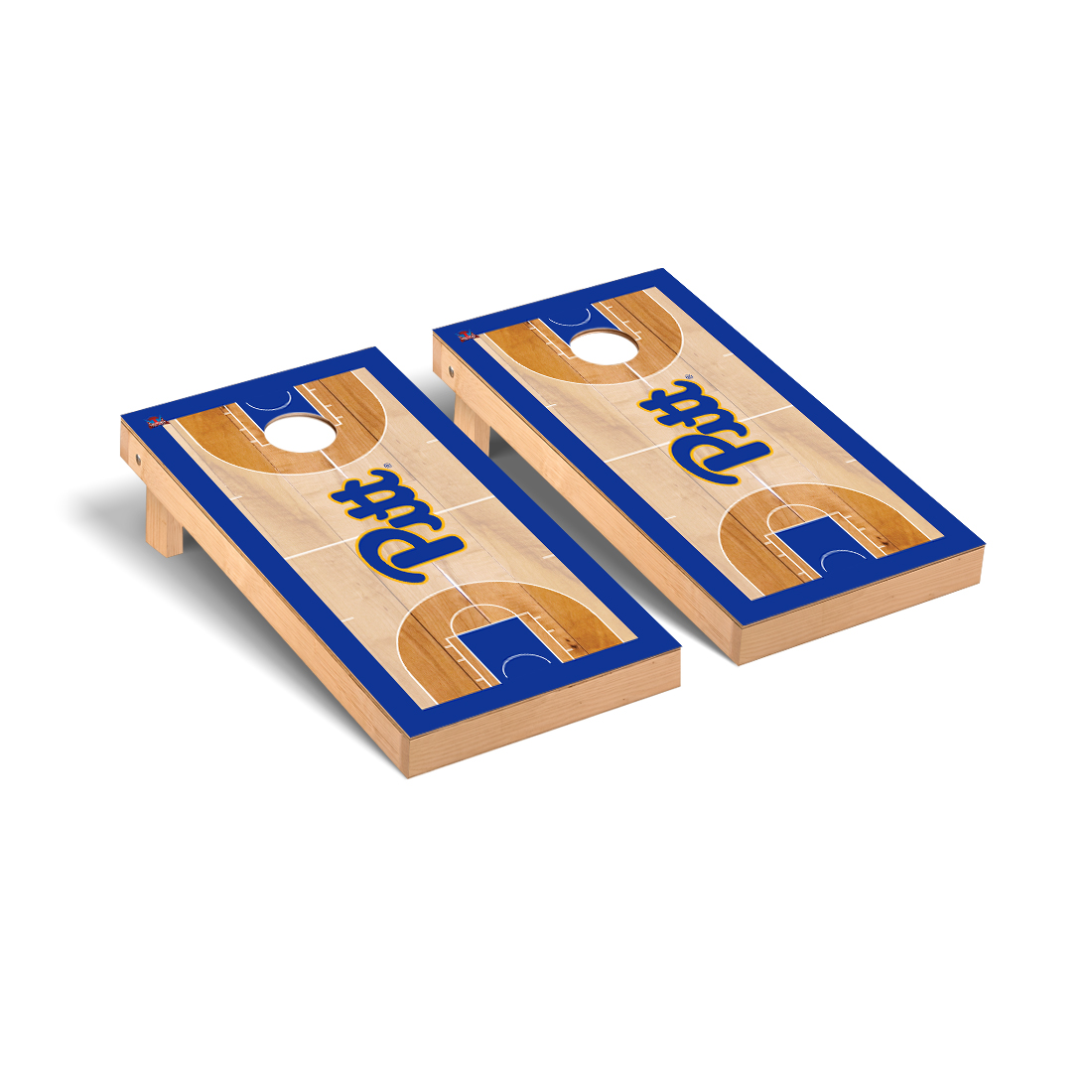 University of Pittsburgh Panthers Cornhole Game Set Basketball Court Version
