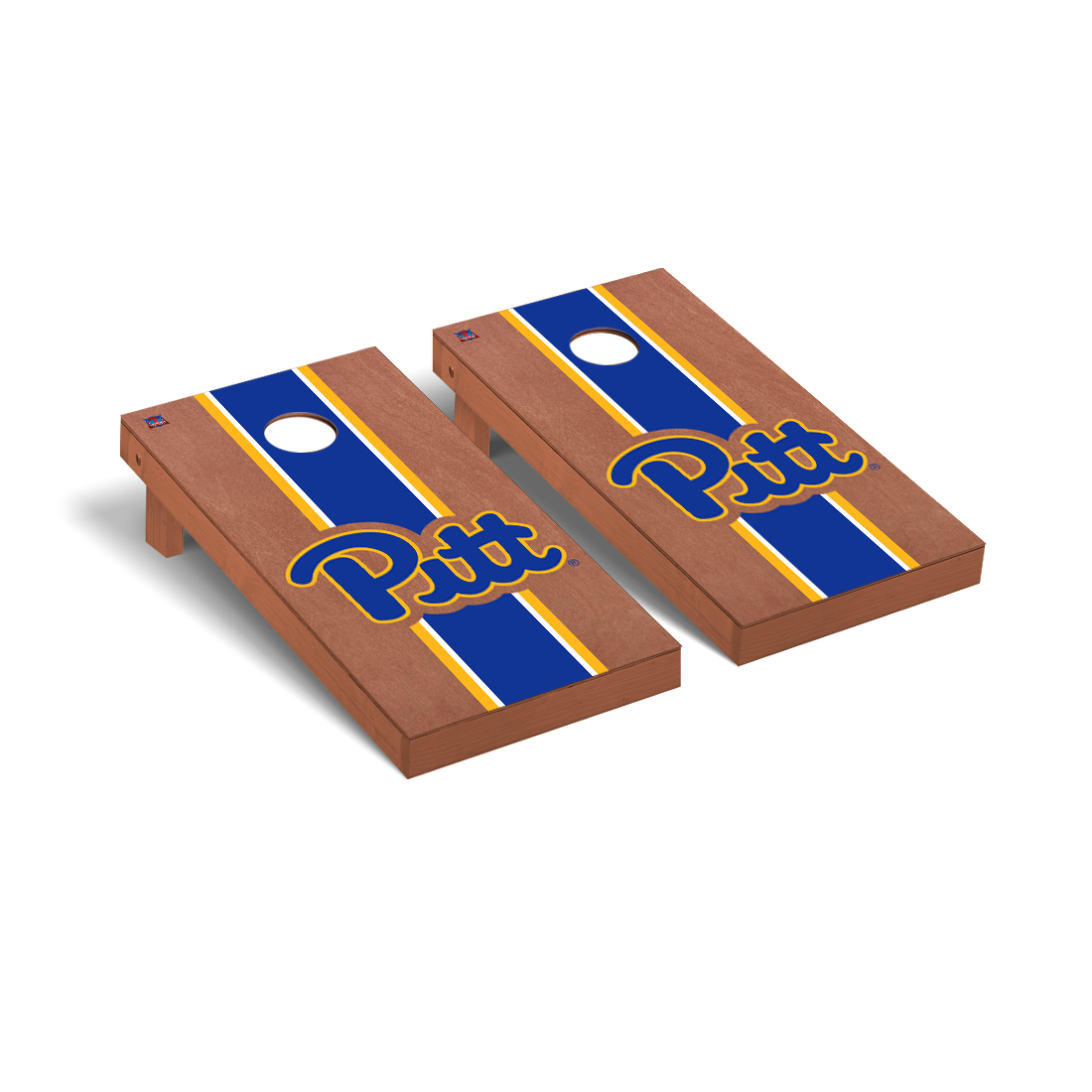 University of Pittsburgh Panthers Cornhole Game Set Rosewood Stained Stripe Version