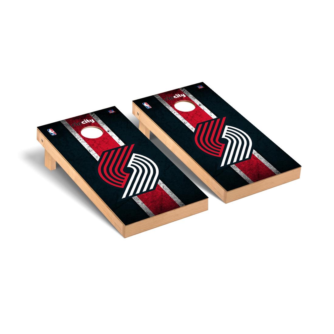 Portland Blazers Trailblazers NBA Basketball Cornhole Game Set Vintage Version