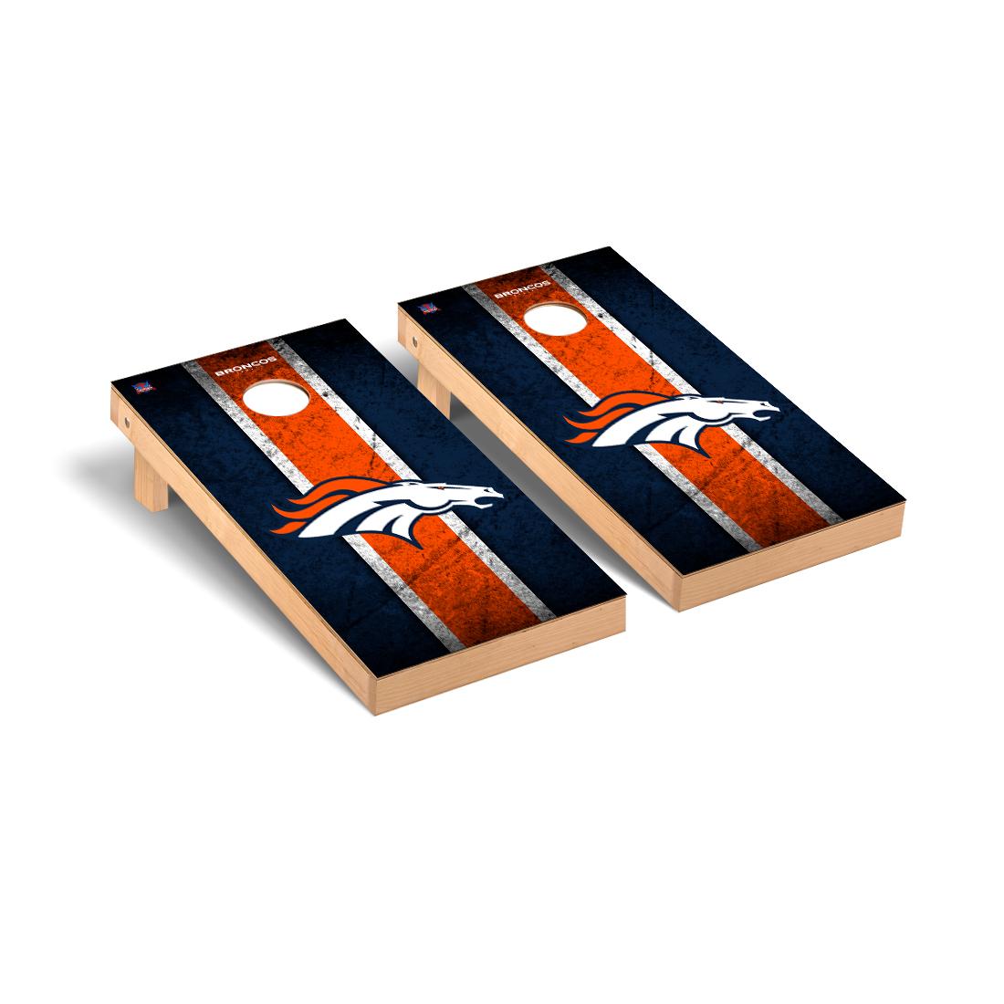 Denver Broncos NFL Football Cornhole Game Set Vintage Version 2