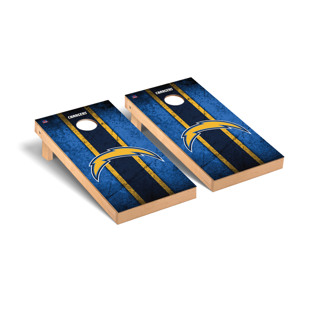 Los Angeles Chargers NFL Football Cornhole Game Set Vintage Version 2