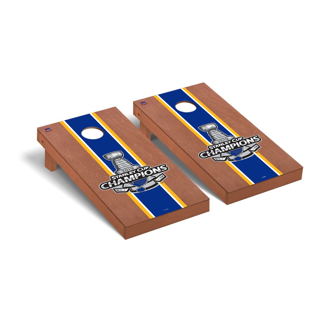 St. Louis Blues Stanley Cup 2019 Rosewood Stained Stripe Version