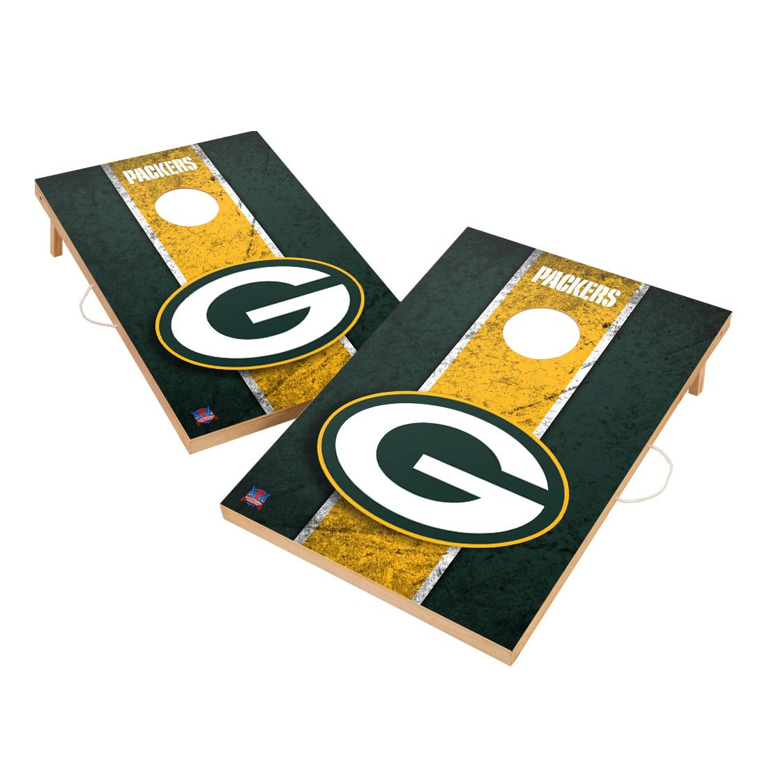 Vintage Green Bay Packers NFL VT - Solid Wood 2x3 Cornhole