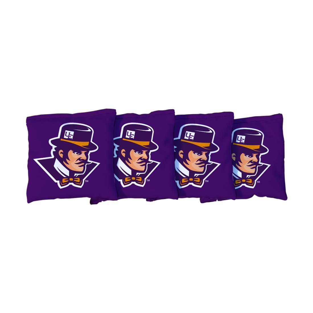 4 University Of Evansville Purple Aces Purple Cornhole Bags