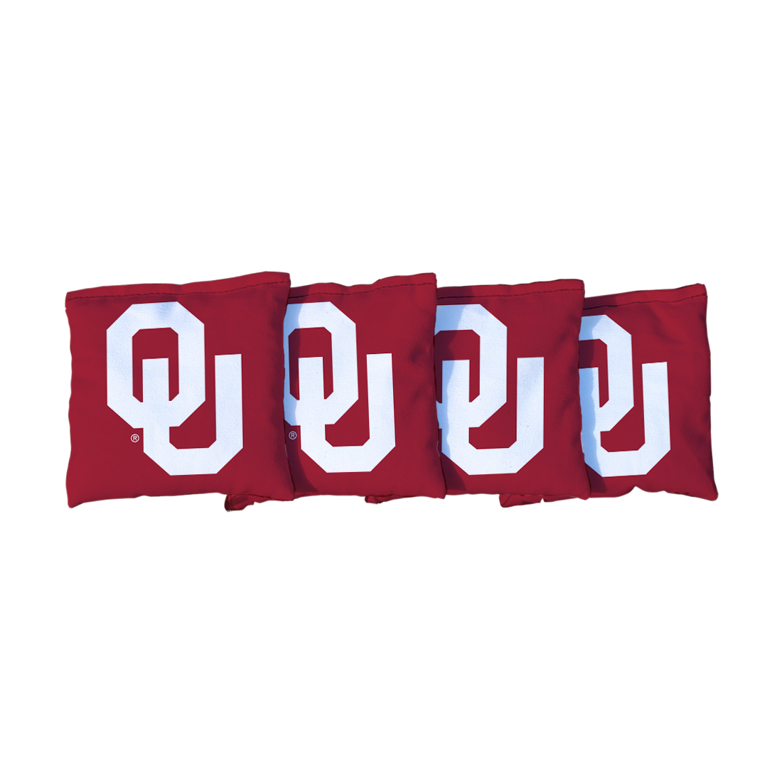 4 Oklahoma Sooner Crimson Cornhole Bags