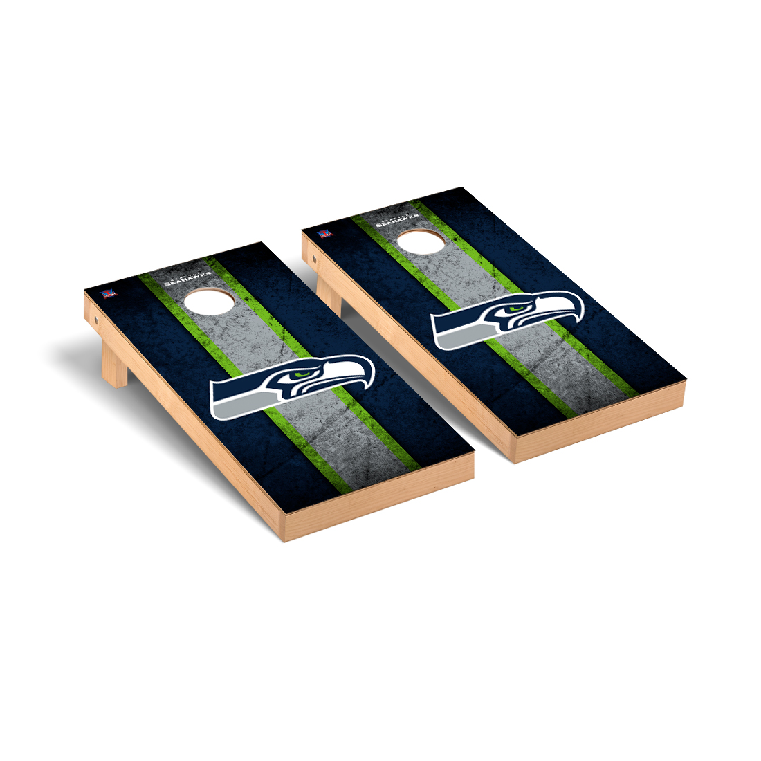 Seattle Seahawks NFL Football Cornhole Game Set Vintage Version 2