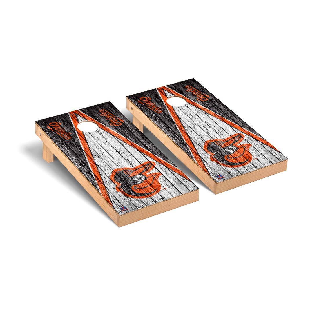 Baltimore Orioles MLB Baseball Cornhole Game Set Triangle Weathered Version