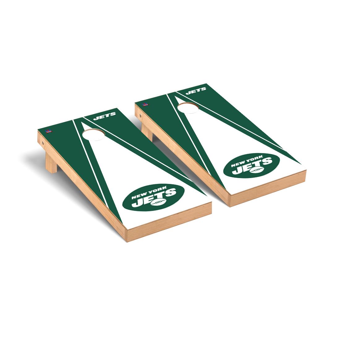 New York Jets NFL Football Cornhole Game Set Triangle Version
