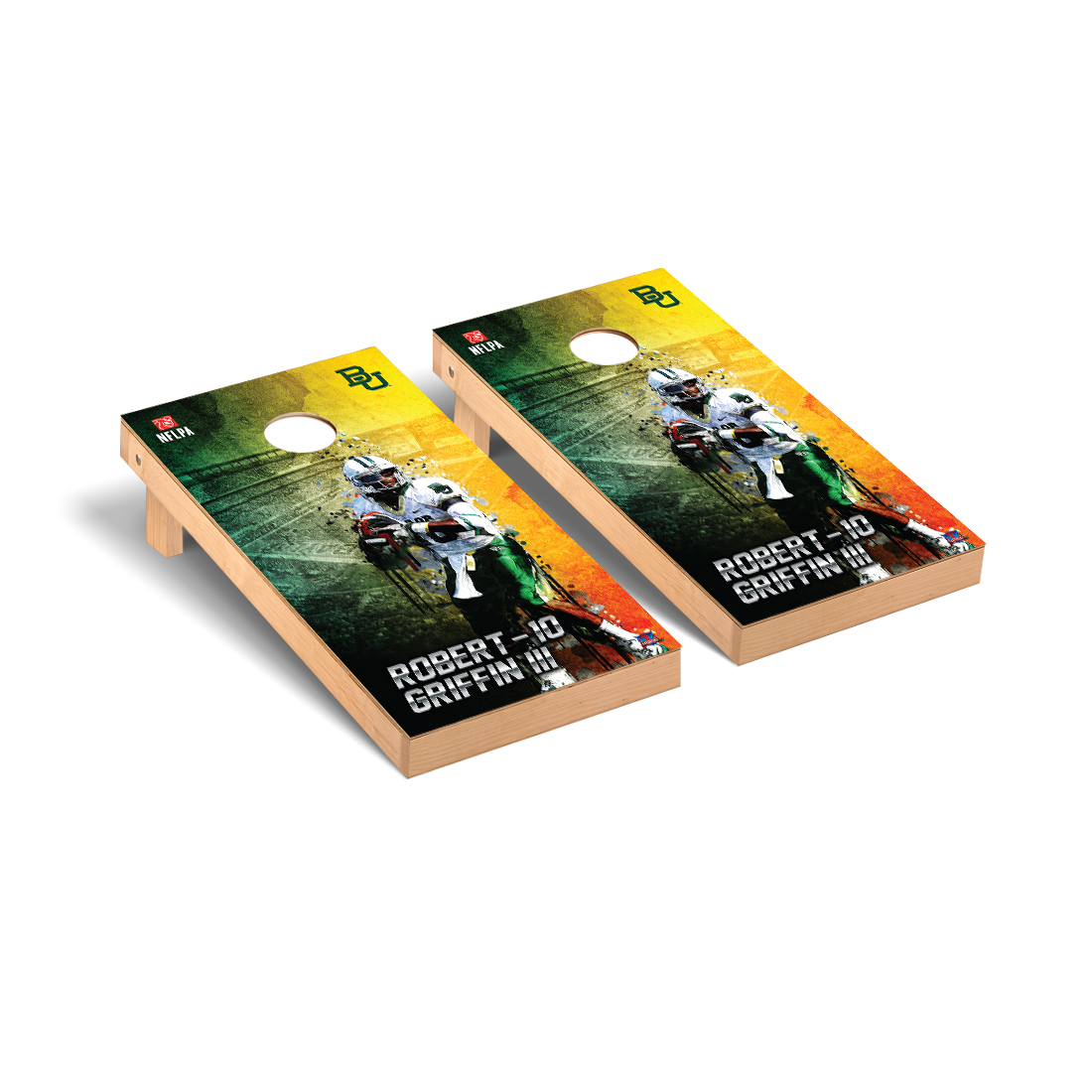 Baylor Bears Cornhole Game Set Robert Griffin III 10 NFLPA Version