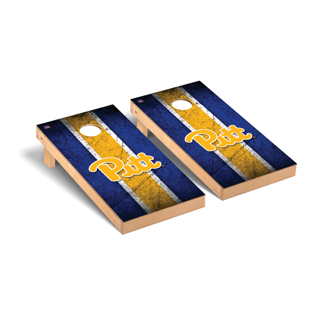 University of Pittsburgh Panthers Cornhole Game Set Vintage Version