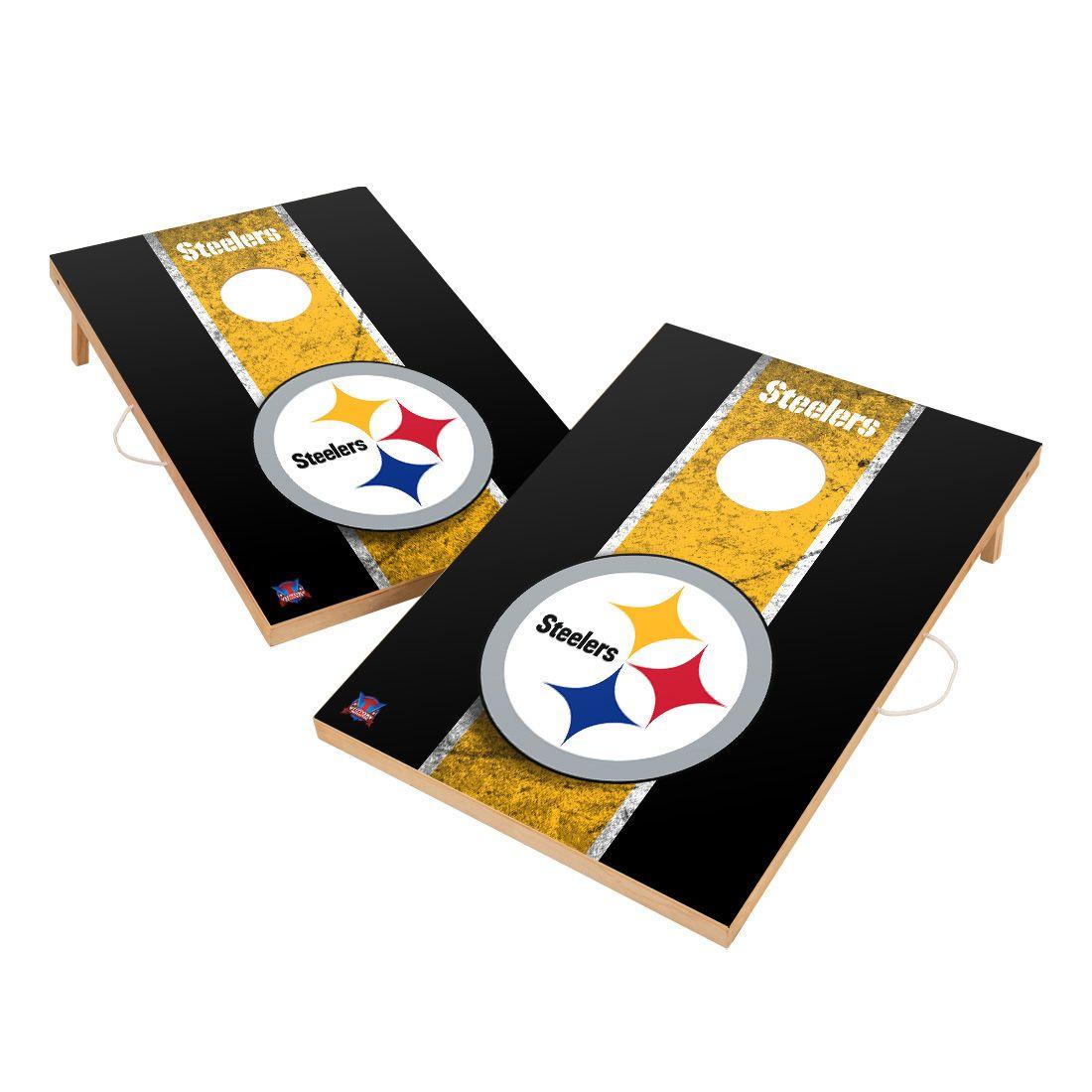 Vintage Pittsburgh Steelers NFL VT - Solid Wood 2x3 Cornhole