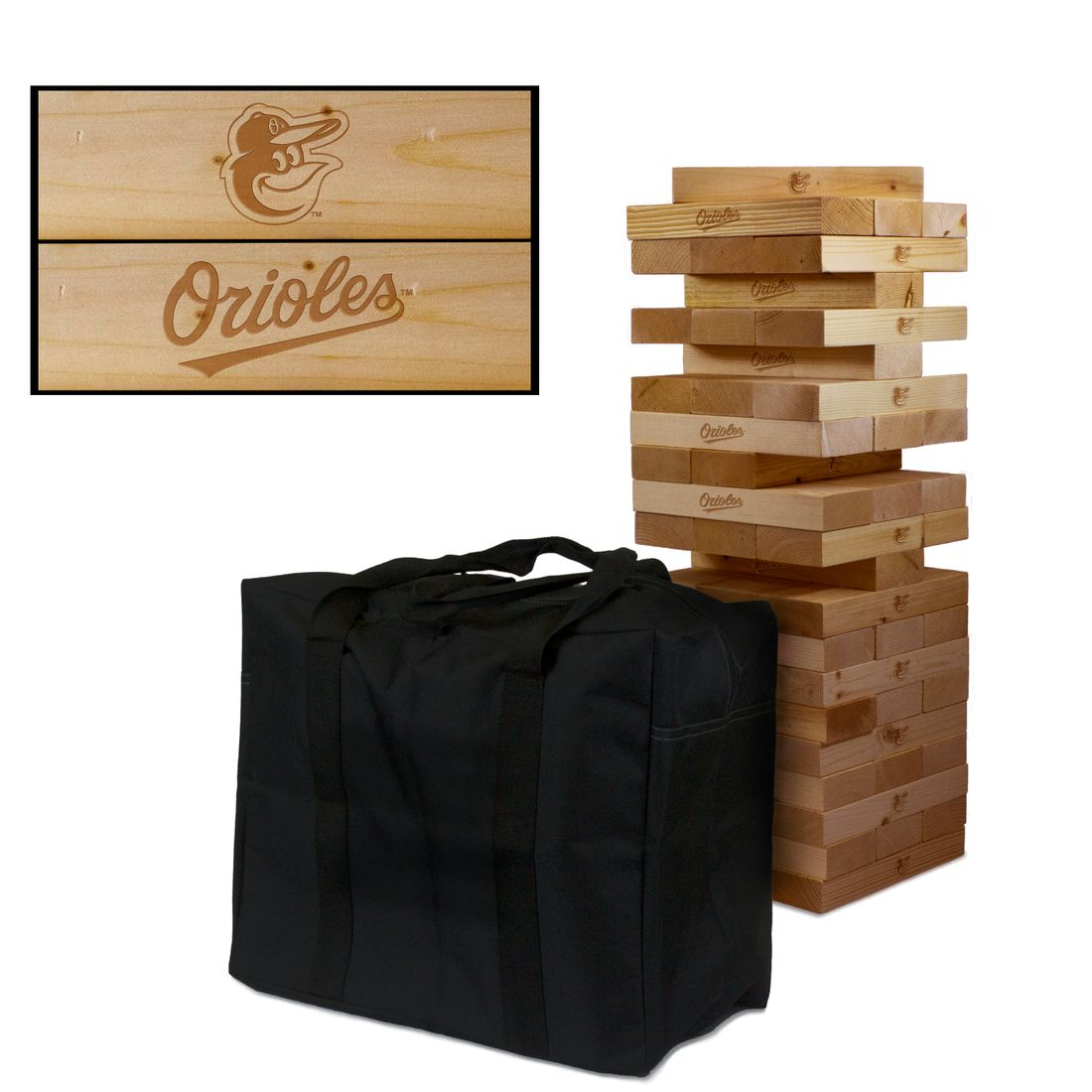 Baltimore Orioles Wooden Tumble Tower Game