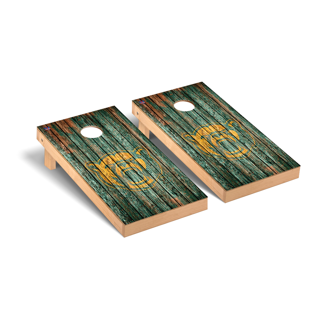 Baylor Bears Cornhole Game Set Weathered Version