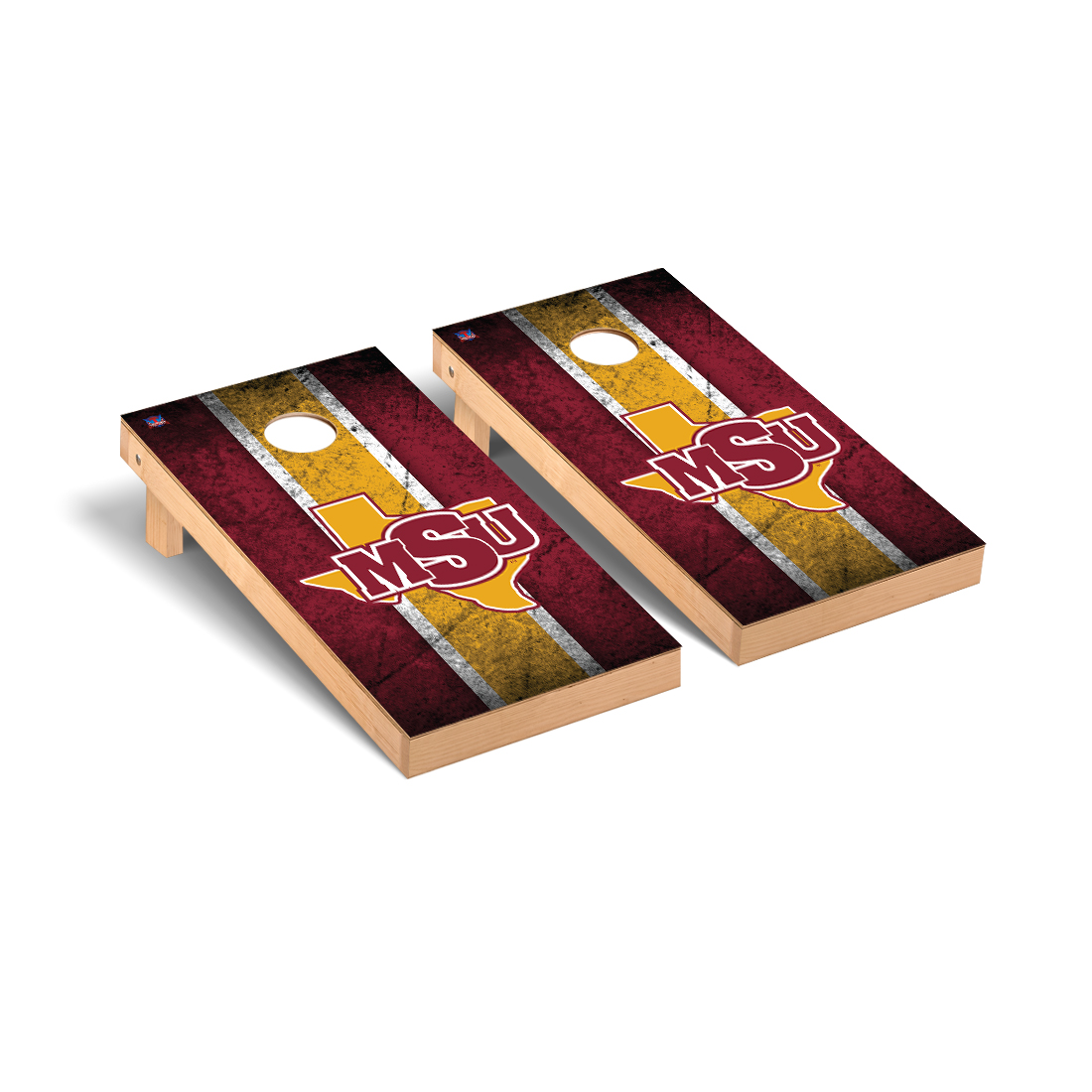 Midwestern State MSU Mustangs Cornhole Game Set Vintage Version
