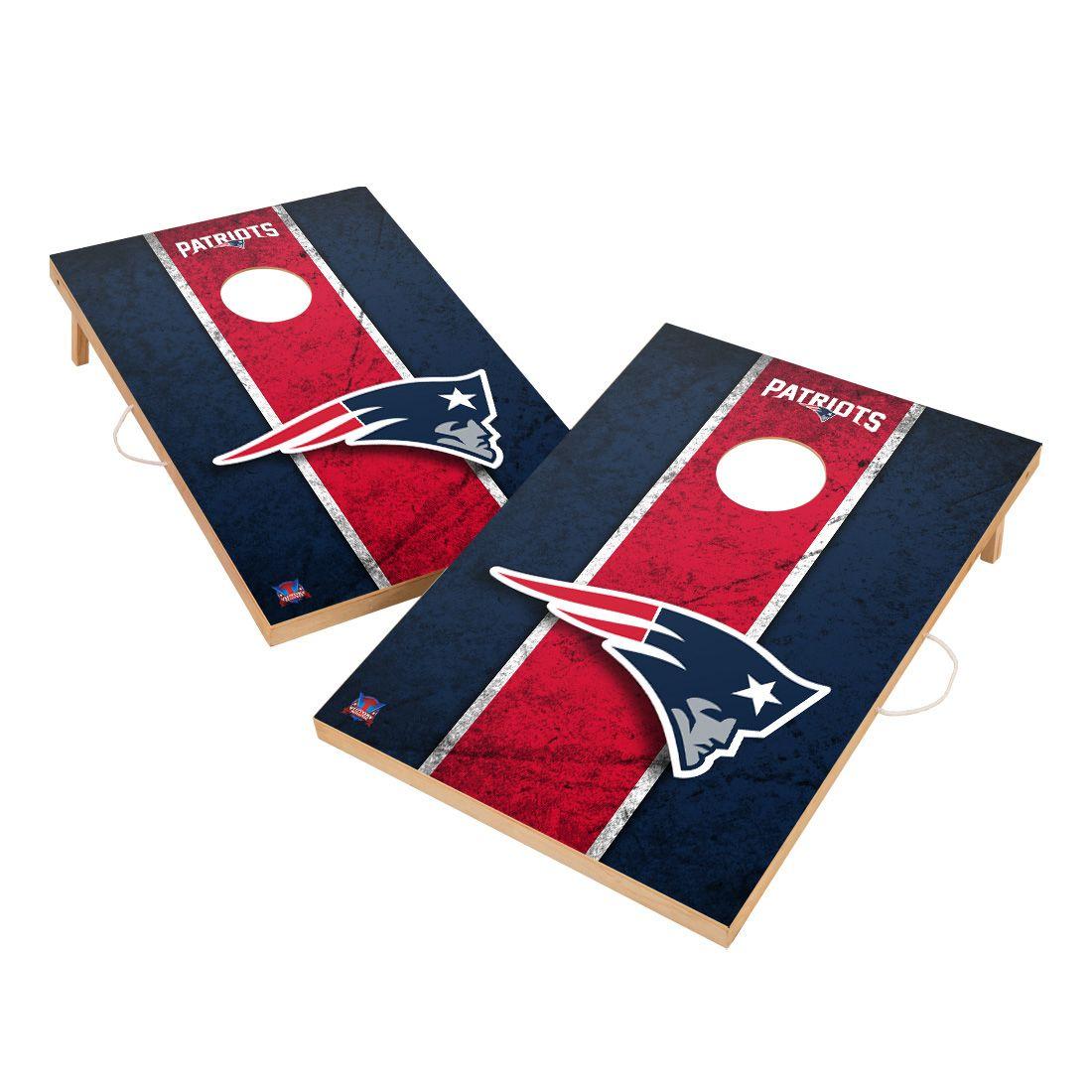 Vintage New England Patriots NFL VT - Solid Wood 2x3 Cornhole