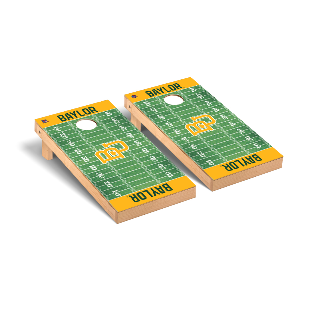 Baylor Bears Cornhole Game Set Football Field Version