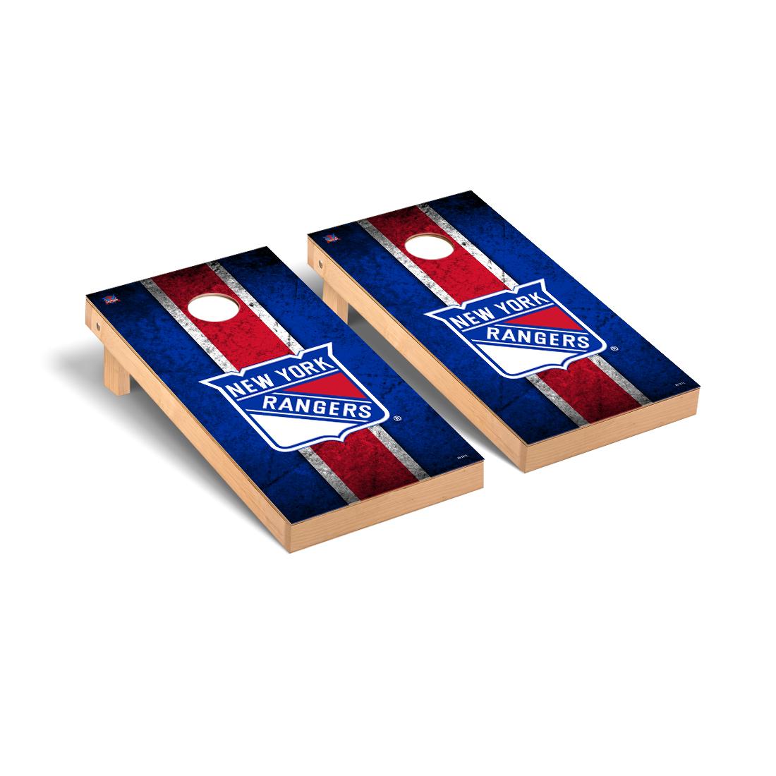 New York Rangers NHL Cornhole Game Set Vintage Version