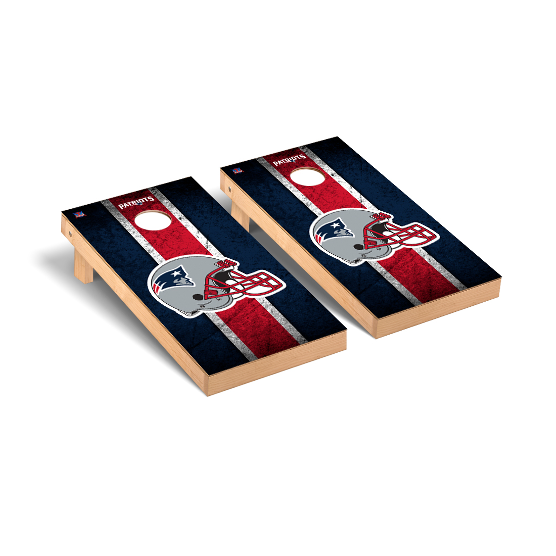 New England Patriots NFL Football Cornhole Game Set Vintage Version