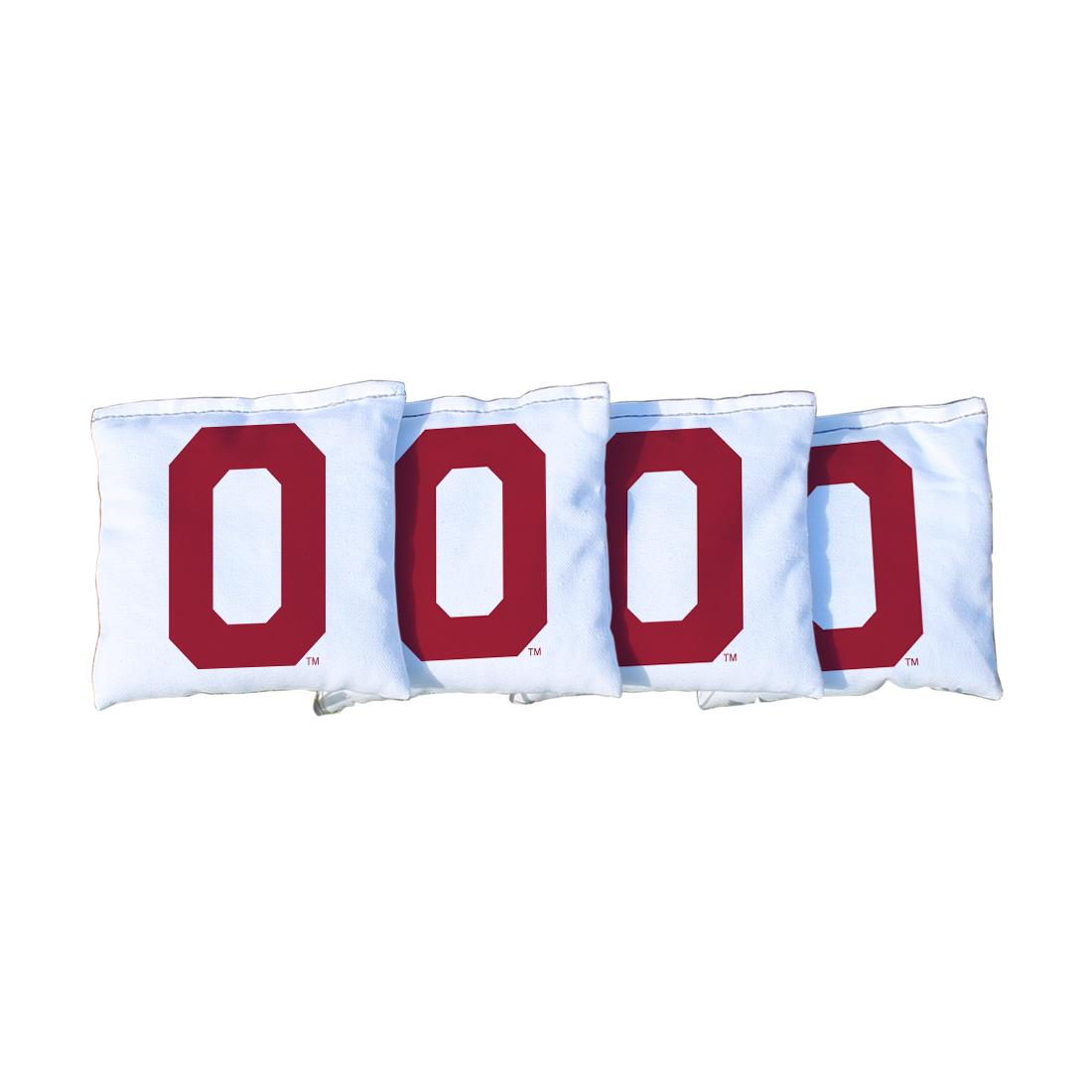 4 College Vault Oklahoma Sooners White Cornhole Bags