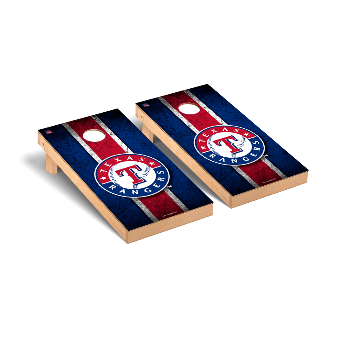 Texas Rangers MLB Baseball Cornhole Game Set Vintage Version