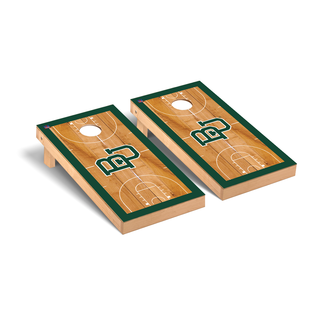 Baylor Bears Cornhole Game Set Basketball Court Version