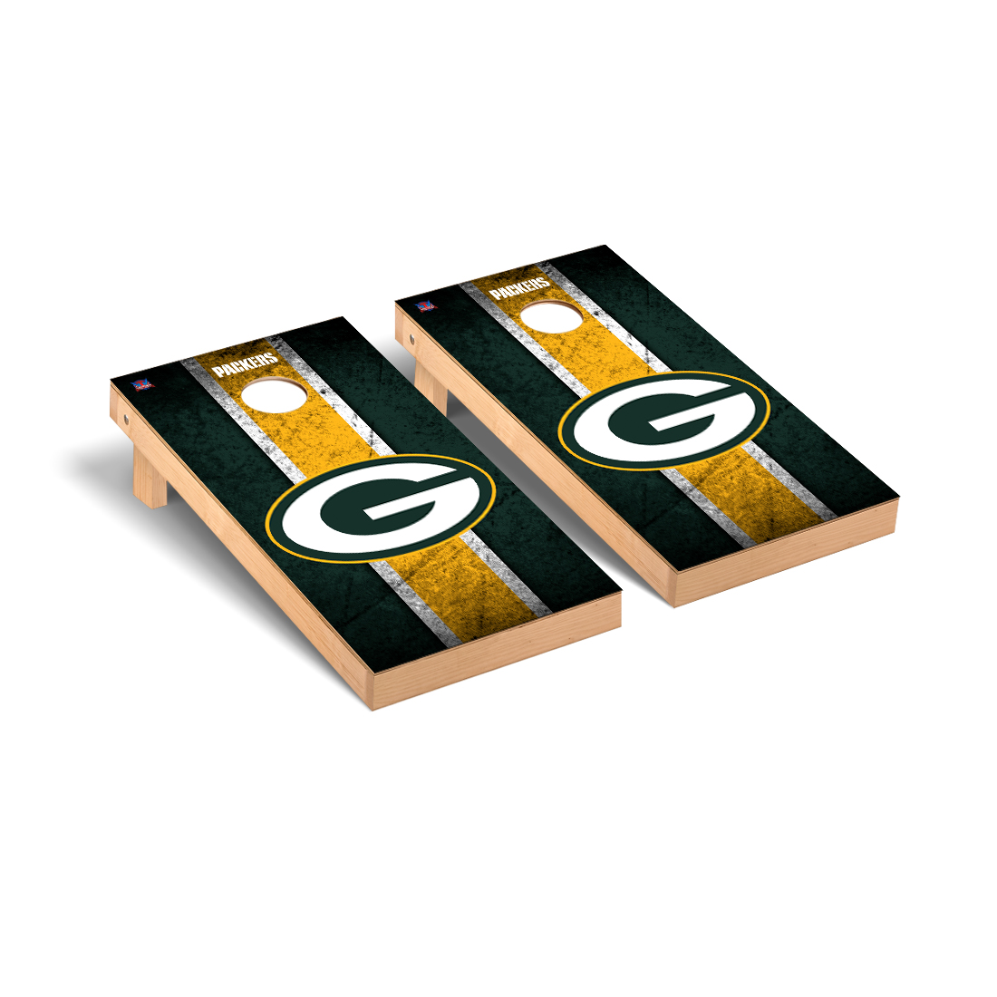 Green Bay Packers NFL Football Cornhole Game Set Vintage Version 2