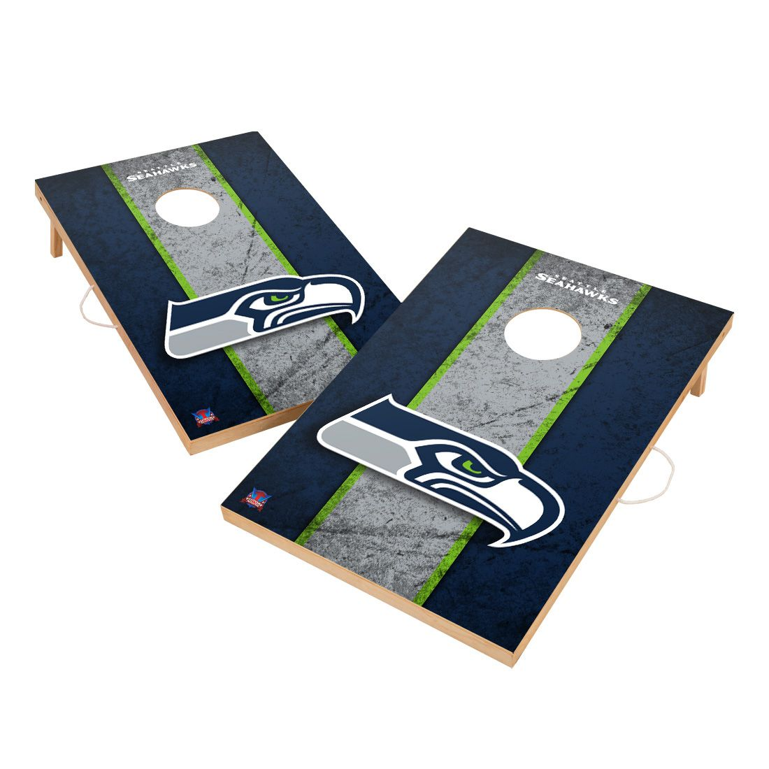 Vintage Seattle Seahawks NFL VT - Solid Wood 2x3 Cornhole