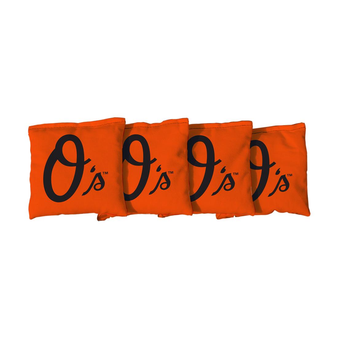 4 Baltimore Orioles Orange Cornhole Bags